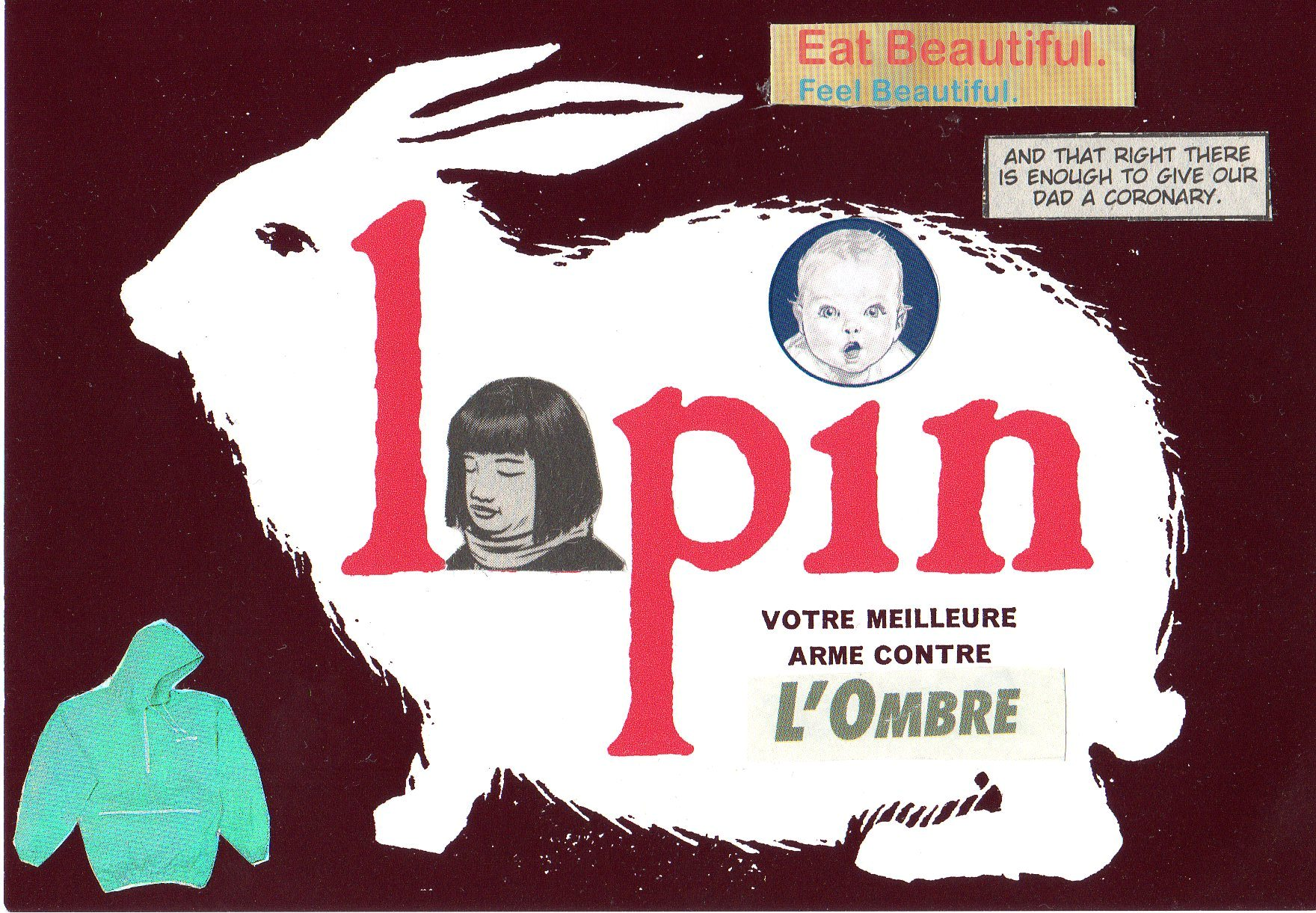 Promo postcard for L'Association's revue Lapin